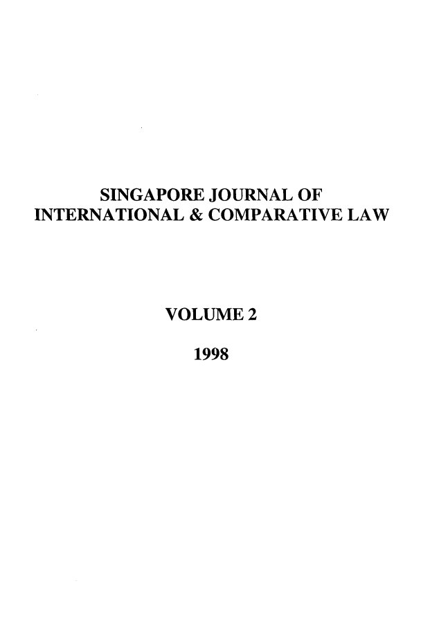 handle is hein.journals/singa2 and id is 1 raw text is: SINGAPORE JOURNAL OF