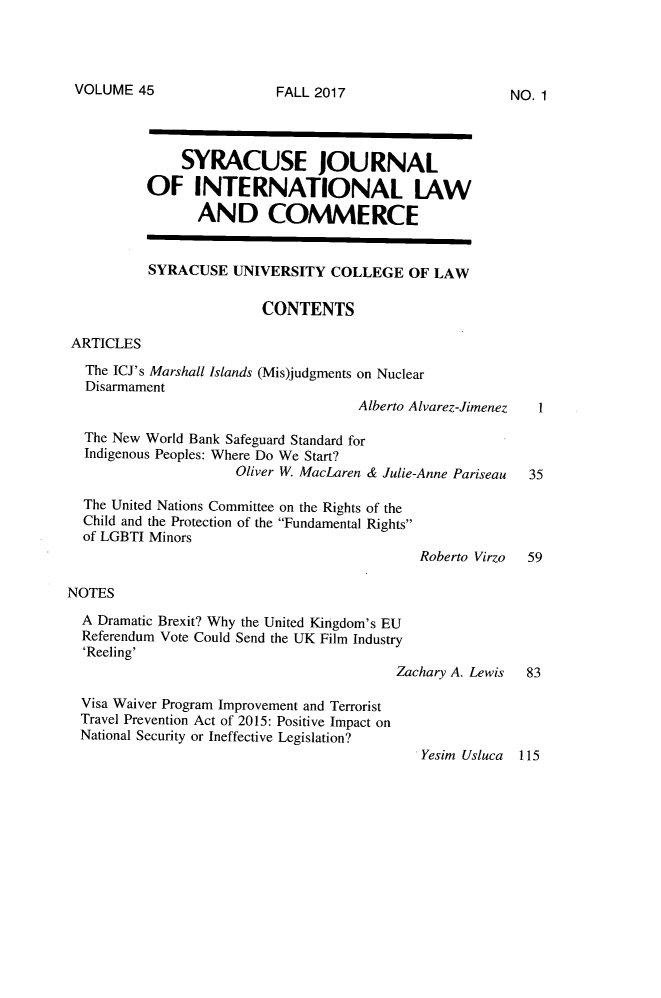 handle is hein.journals/sjilc45 and id is 1 raw text is: 
