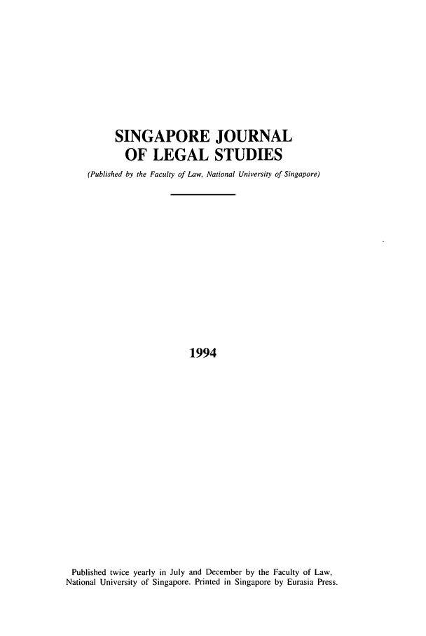 handle is hein.journals/sjls1994 and id is 1 raw text is: SINGAPORE JOURNAL