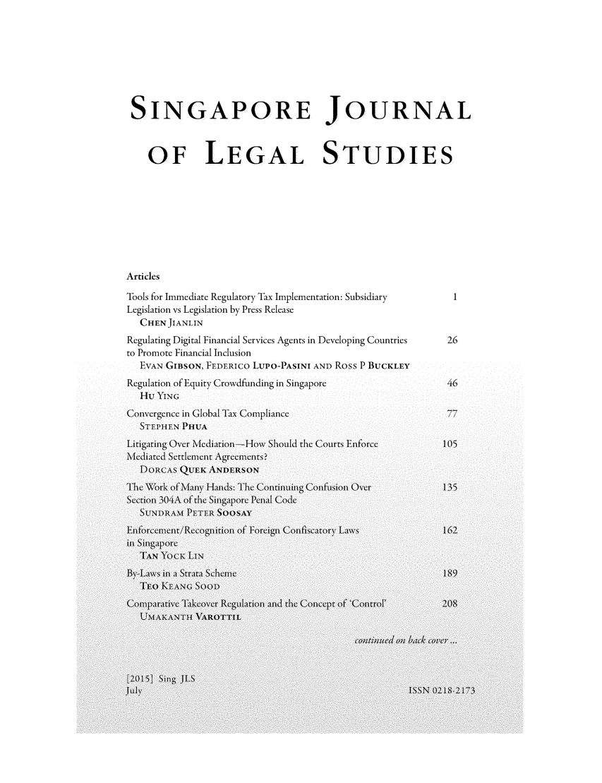 handle is hein.journals/sjls2015 and id is 1 raw text is: 