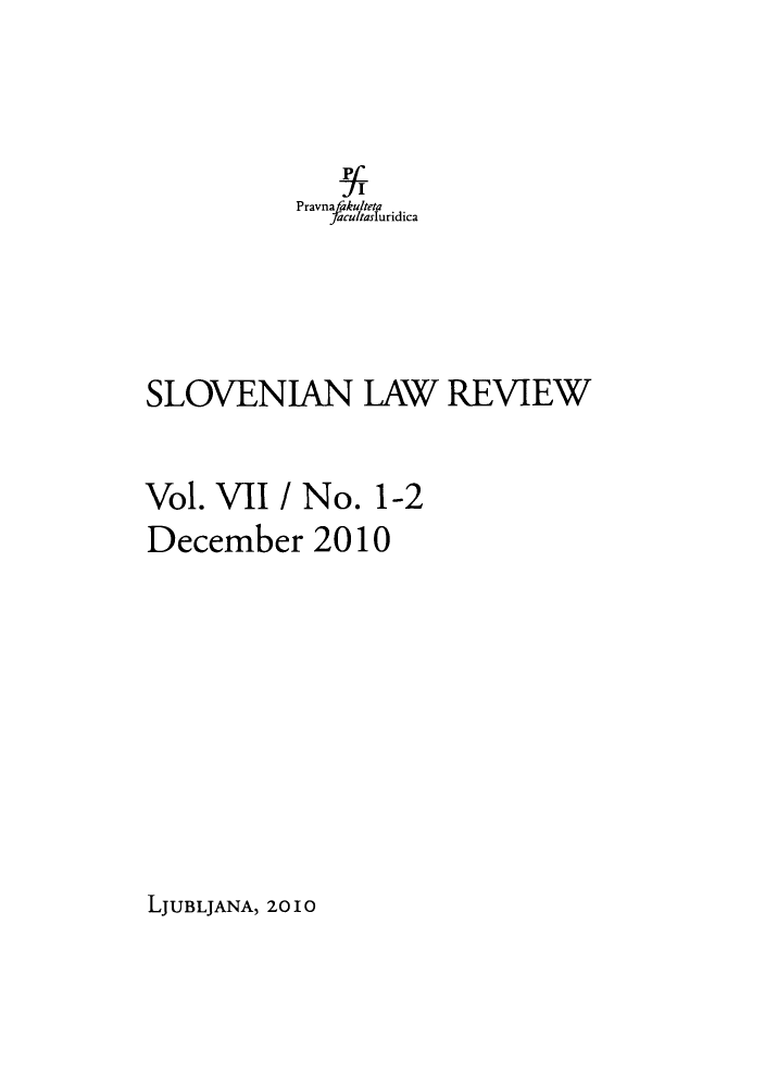 handle is hein.journals/slovlwrv7 and id is 1 raw text is: Pravna fakulteta