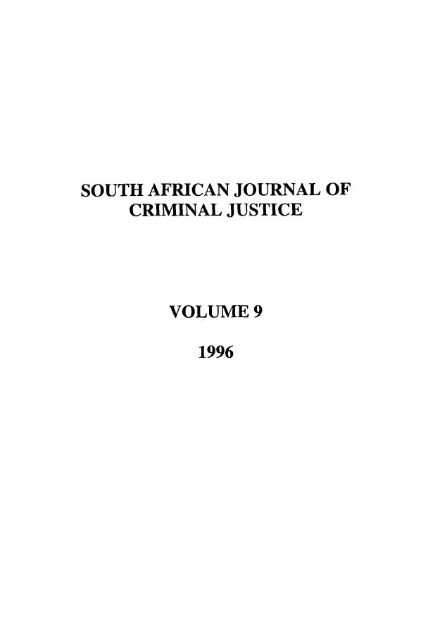 handle is hein.journals/soafcrimj9 and id is 1 raw text is: SOUTH AFRICAN JOURNAL OF
