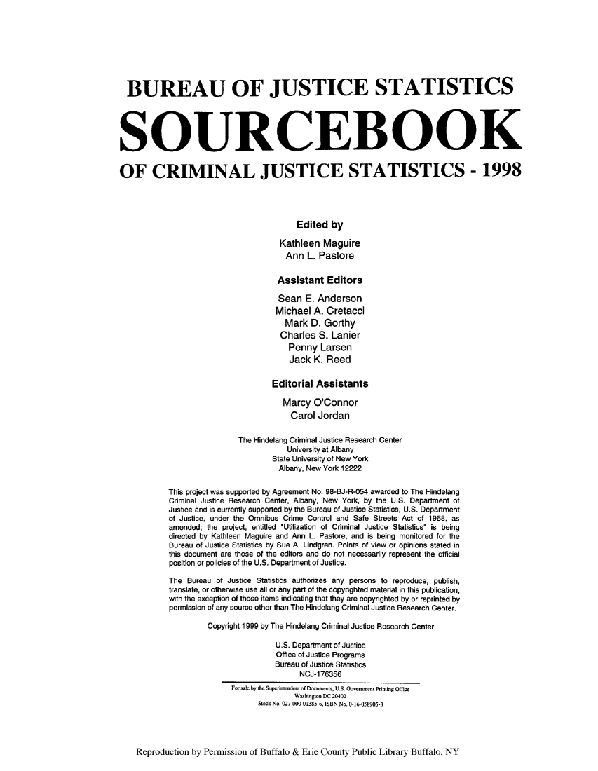 handle is hein.journals/socrijus1998 and id is 1 raw text is: BUREAU OF JUSTICE STATISTICS