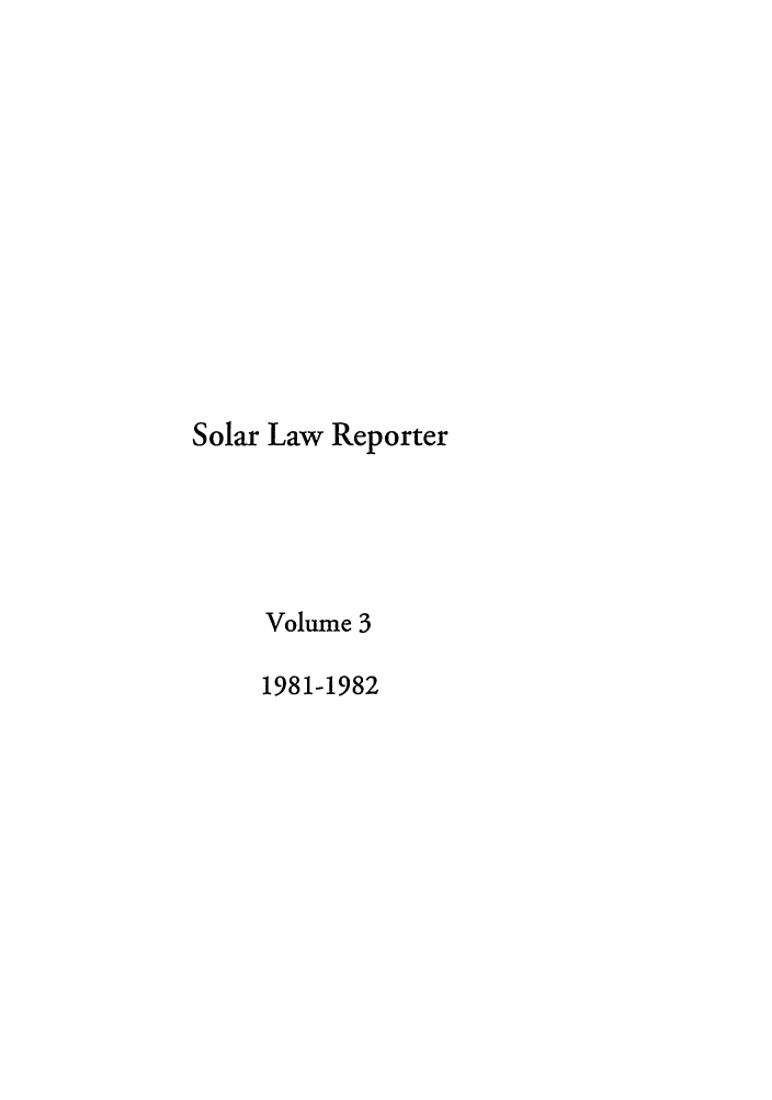 handle is hein.journals/solar3 and id is 1 raw text is: Solar Law Reporter