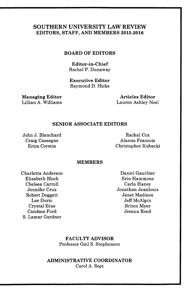 handle is hein.journals/soulr43 and id is 1 raw text is: 