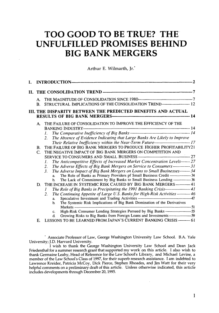 handle is hein.journals/stabf2 and id is 7 raw text is: TOO GOOD TO BE TRUE? THE