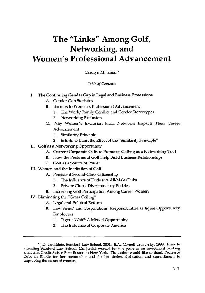 handle is hein.journals/stabf8 and id is 323 raw text is: The Links Among Golf,
