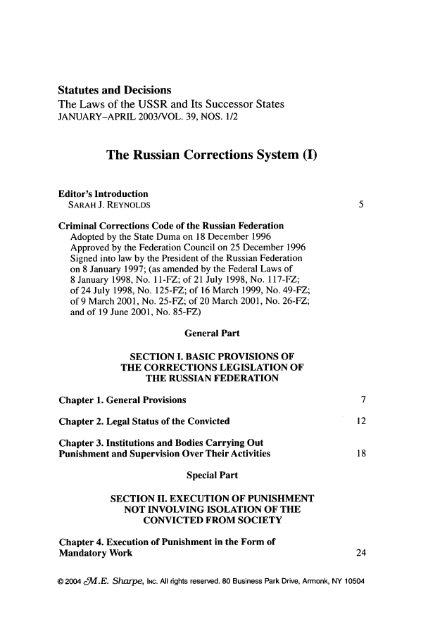 handle is hein.journals/stadlussr39 and id is 1 raw text is: Statutes and Decisions