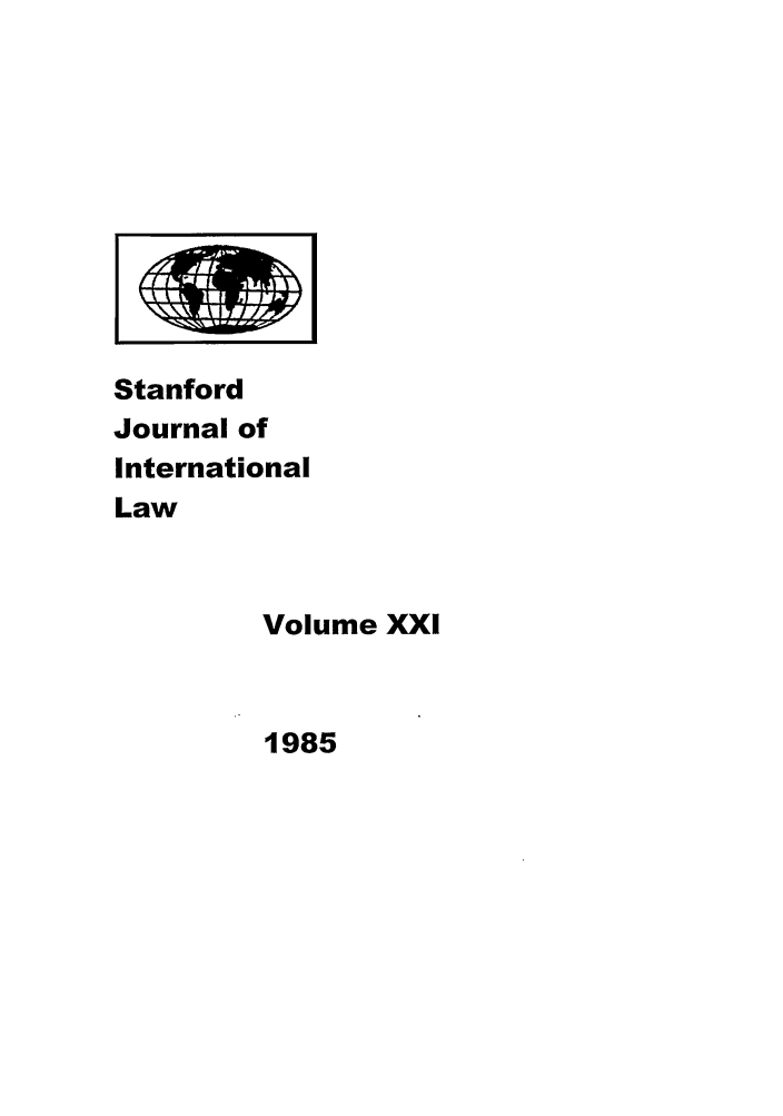 handle is hein.journals/stanit21 and id is 1 raw text is: Stanford