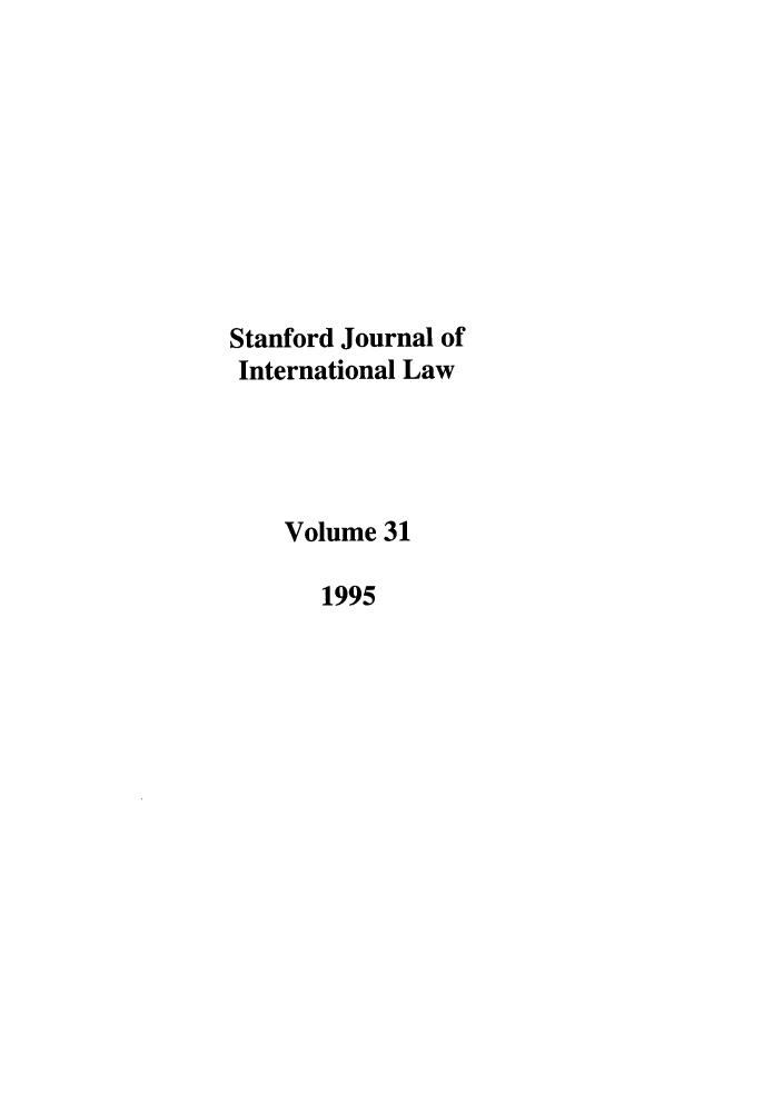 handle is hein.journals/stanit31 and id is 1 raw text is: Stanford Journal of