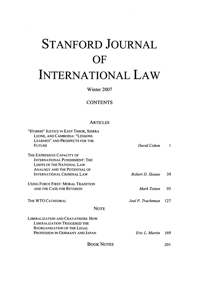 handle is hein.journals/stanit43 and id is 1 raw text is: STANFORD JOURNAL