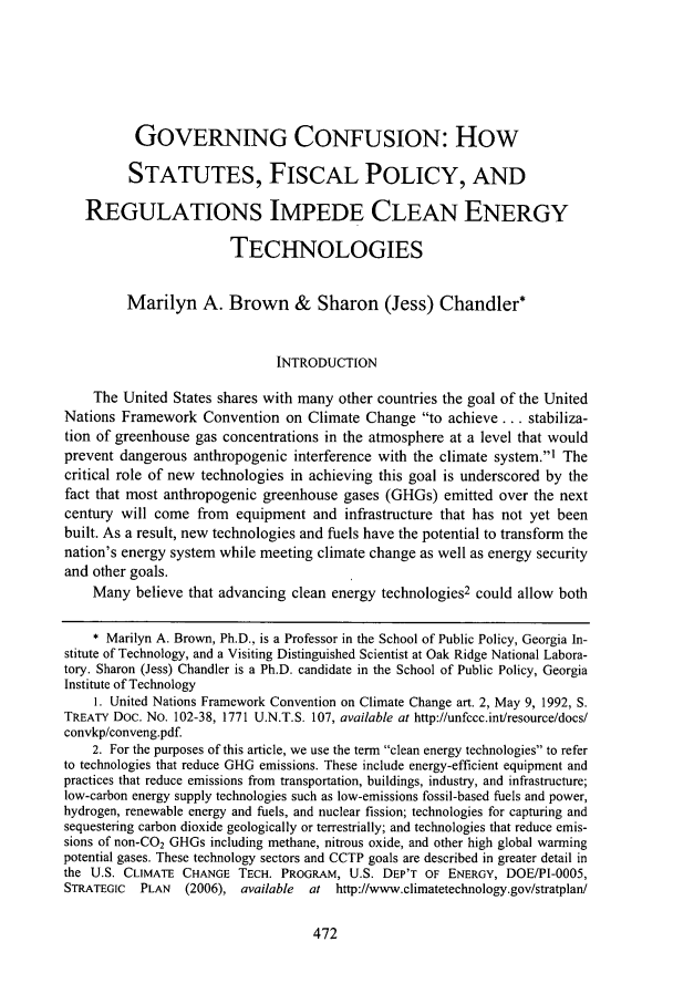 handle is hein.journals/stanlp19 and id is 478 raw text is: GOVERNING CONFUSION: How