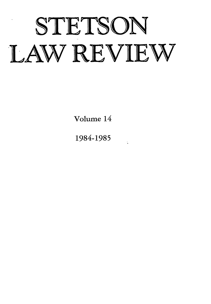 handle is hein.journals/stet14 and id is 1 raw text is: STETS ON