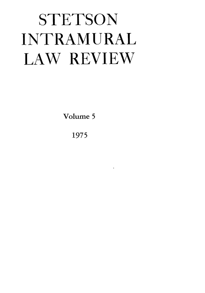 handle is hein.journals/stet5 and id is 1 raw text is: STETSON