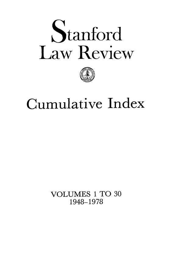 handle is hein.journals/stflrci1 and id is 1 raw text is: Stanford