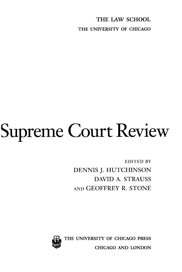 handle is hein.journals/suprev2005 and id is 1 raw text is: THE LAW SCHOOL