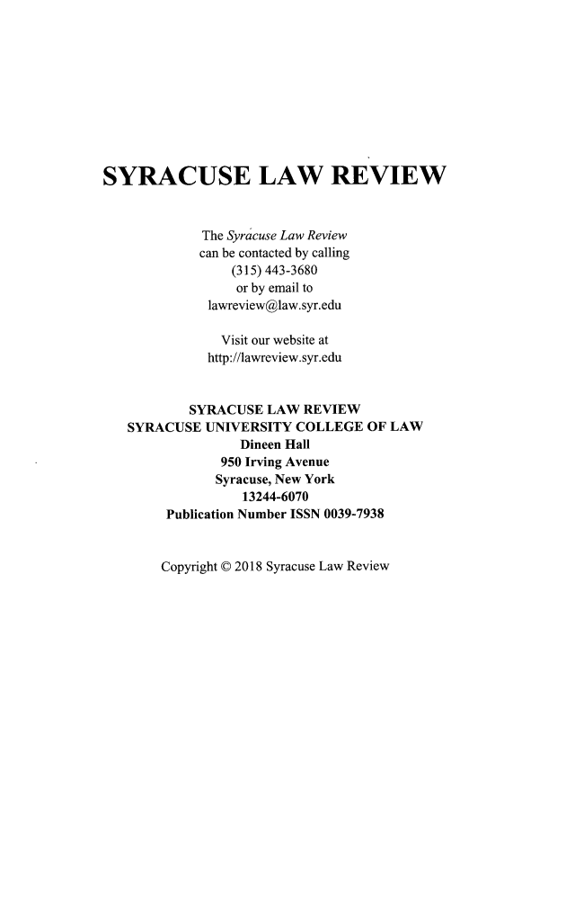 handle is hein.journals/syrlr68 and id is 1 raw text is: 