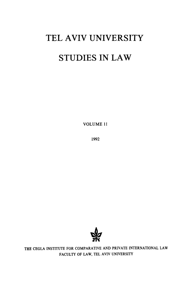 handle is hein.journals/telavusl11 and id is 1 raw text is: TEL AVIV UNIVERSITY