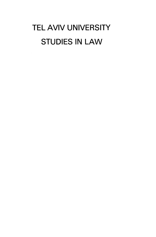 handle is hein.journals/telavusl7 and id is 1 raw text is: TEL AVIV UNIVERSITY