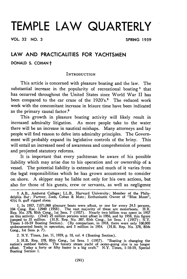 handle is hein.journals/temple32 and id is 243 raw text is: TEMPLE LAW QUARTERLY