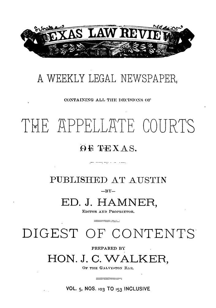 handle is hein.journals/texalr5 and id is 1 raw text is: .....AWREx