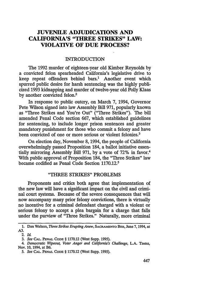 california penal code sentencing guidelines