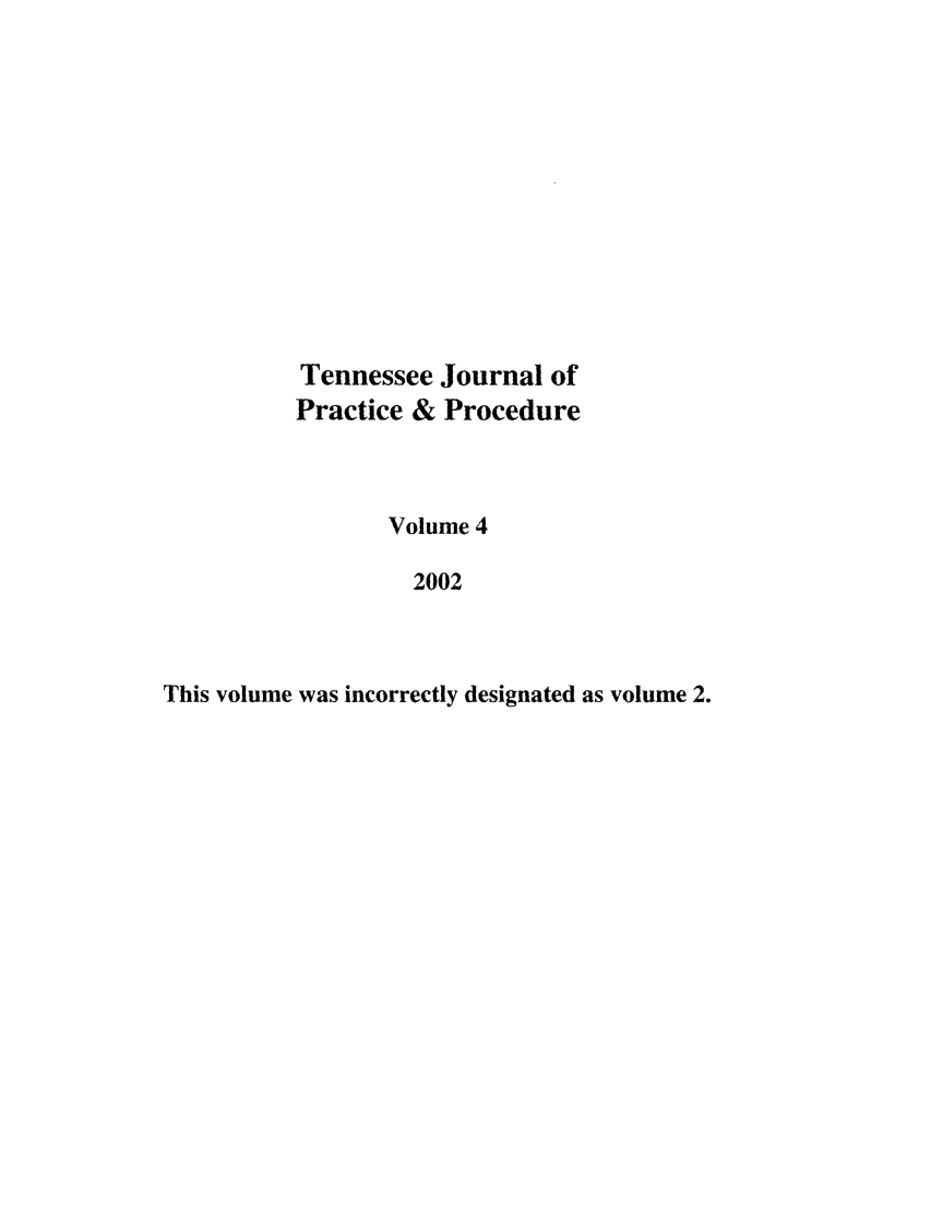 handle is hein.journals/tjpp4 and id is 1 raw text is: Tennessee Journal of