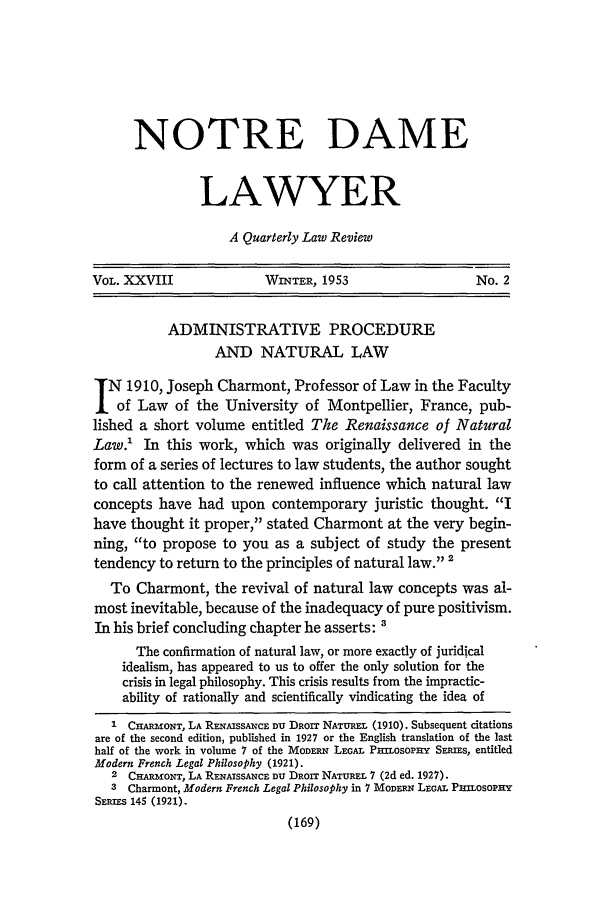 handle is hein.journals/tndl28 and id is 171 raw text is: NOTRE DAME
