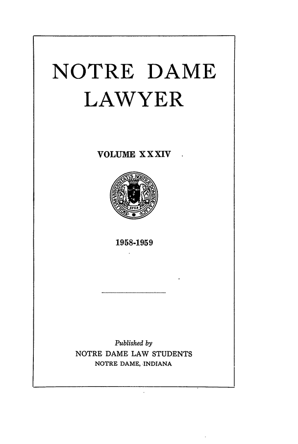 handle is hein.journals/tndl34 and id is 1 raw text is: NOTRE DAME