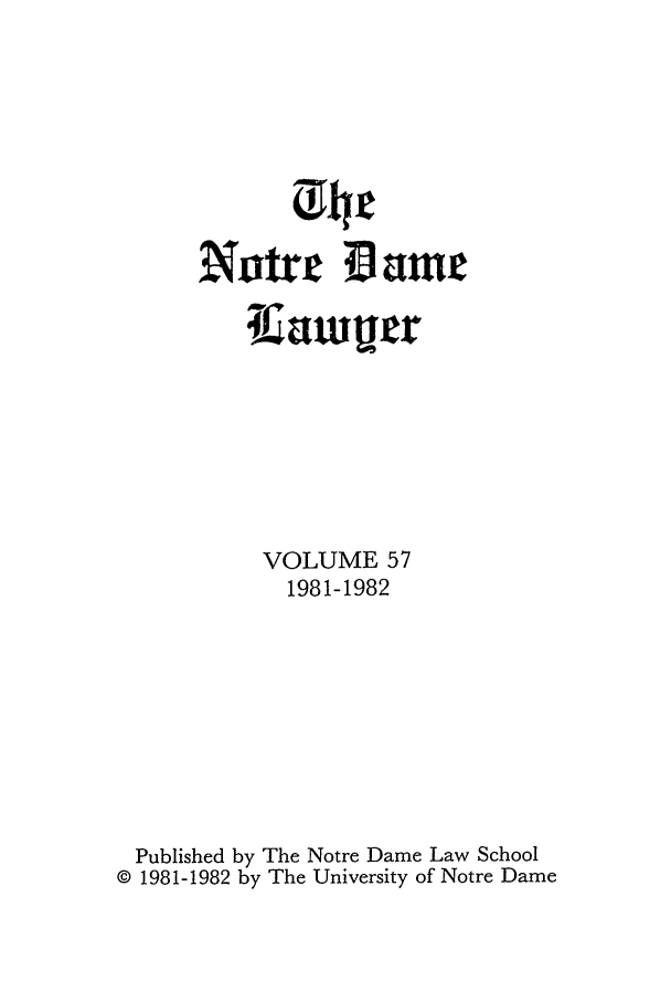 handle is hein.journals/tndl57 and id is 1 raw text is: Nor Dame