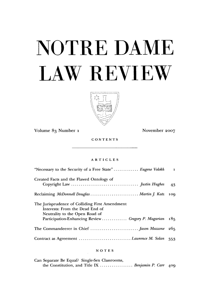 handle is hein.journals/tndl83 and id is 1 raw text is: NOTRE DAME
