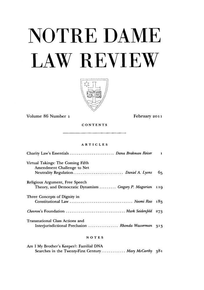 handle is hein.journals/tndl86 and id is 1 raw text is: NOTRE DAME