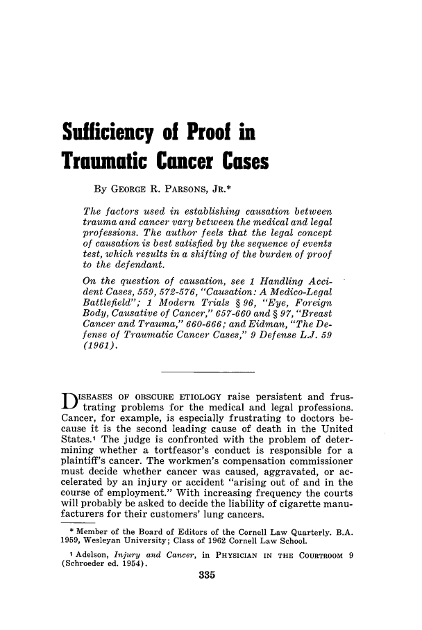 handle is hein.journals/tormedyb2 and id is 371 raw text is: Sufficiency of Proof in