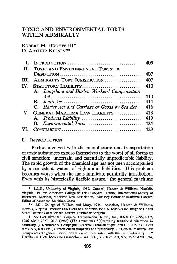 62 Tulane Law Review 1987-1988