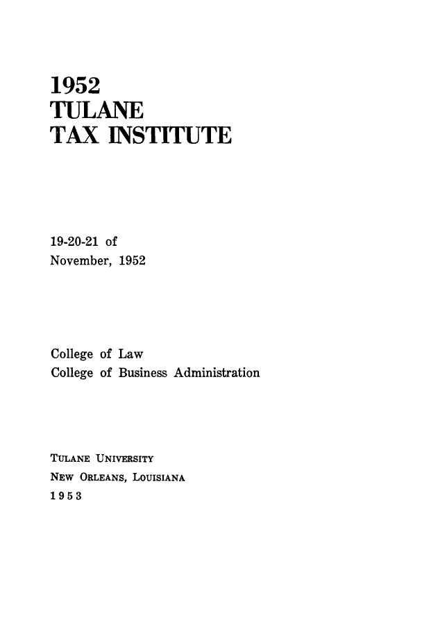 handle is hein.journals/tutain2 and id is 1 raw text is: 1952