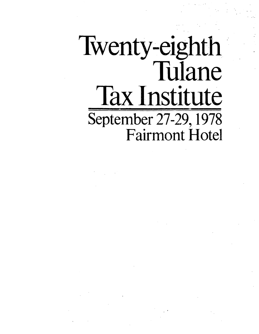 handle is hein.journals/tutain28 and id is 1 raw text is: Twenty-eighth