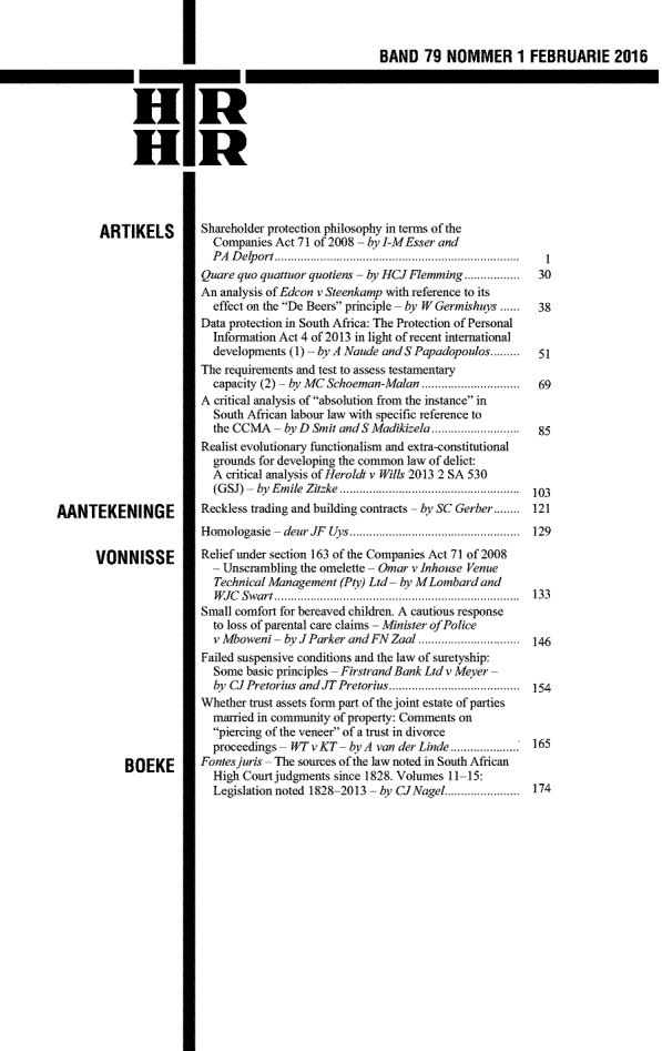 Tydskrif vir Hedendaagse Romeins-Hollandse Reg (Journal