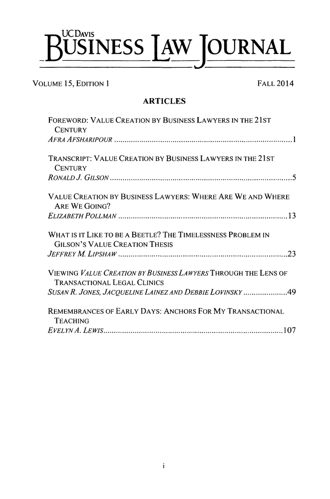 handle is hein.journals/ucdbulj15 and id is 1 raw text is: 