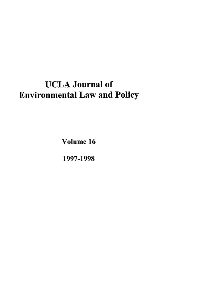 handle is hein.journals/uclalp16 and id is 1 raw text is: UCLA Journal of