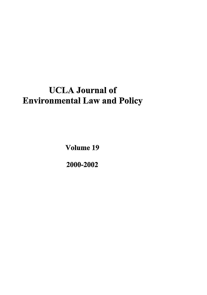 handle is hein.journals/uclalp19 and id is 1 raw text is: UCLA Journal of