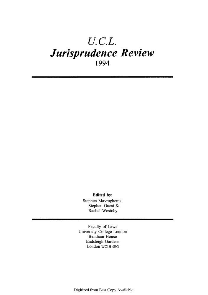 handle is hein.journals/ucljurev1 and id is 1 raw text is: U.C.L.