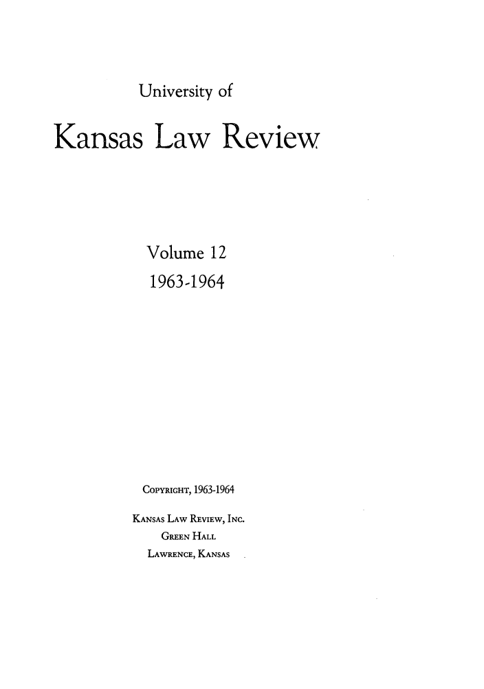 handle is hein.journals/ukalr12 and id is 1 raw text is: University of