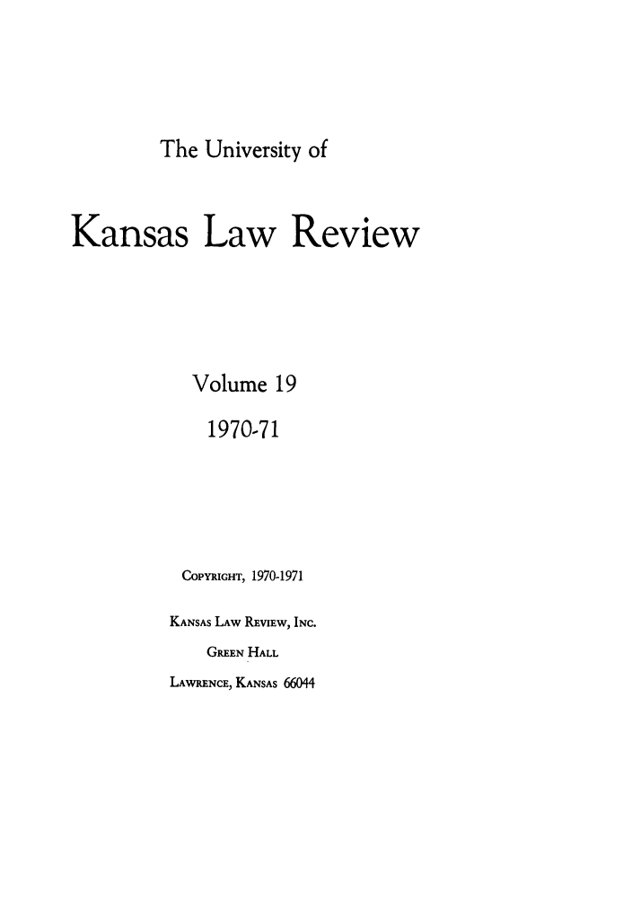 handle is hein.journals/ukalr19 and id is 1 raw text is: The University of