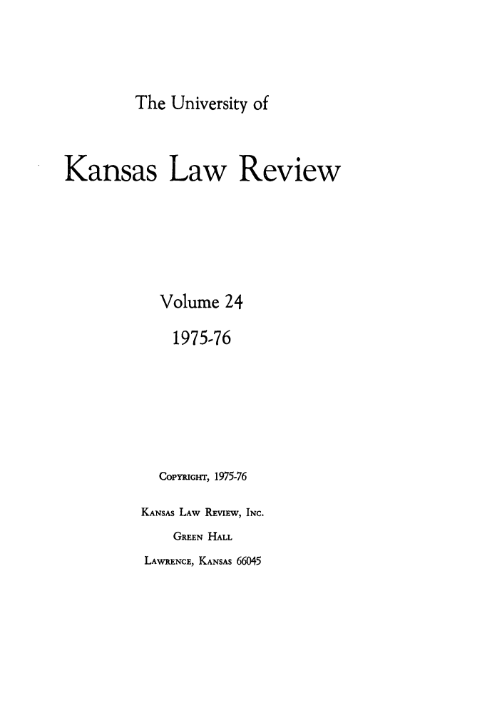 handle is hein.journals/ukalr24 and id is 1 raw text is: The University of