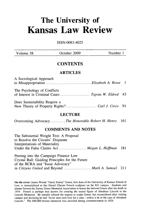 handle is hein.journals/ukalr58 and id is 1 raw text is: The University of