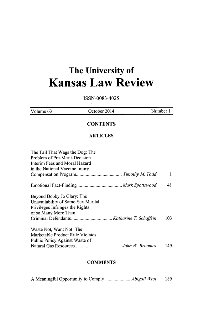 handle is hein.journals/ukalr63 and id is 1 raw text is: 