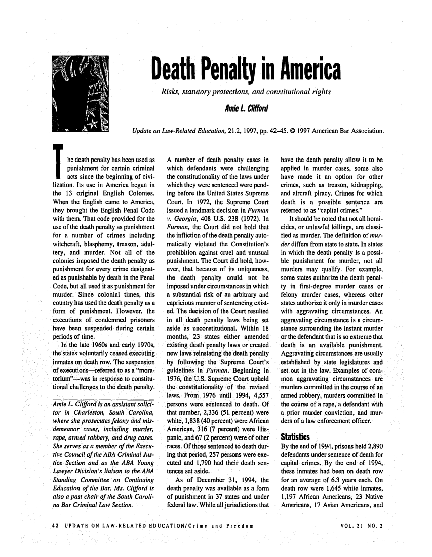the legal infliction of the death penalty the capital punishment in the untied states of america Has become the epicenter of capital punishment in the united states  of capital punishment in america  death penalty opponents have used the legal.