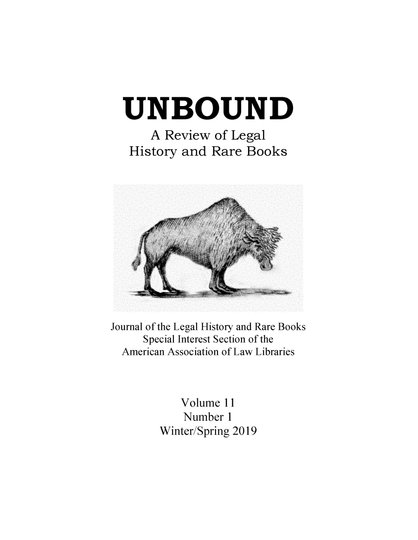handle is hein.journals/unbound11 and id is 1 raw text is: 