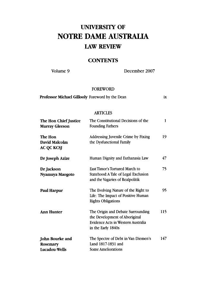 handle is hein.journals/undauslr9 and id is 1 raw text is: UNIVERSITY OF