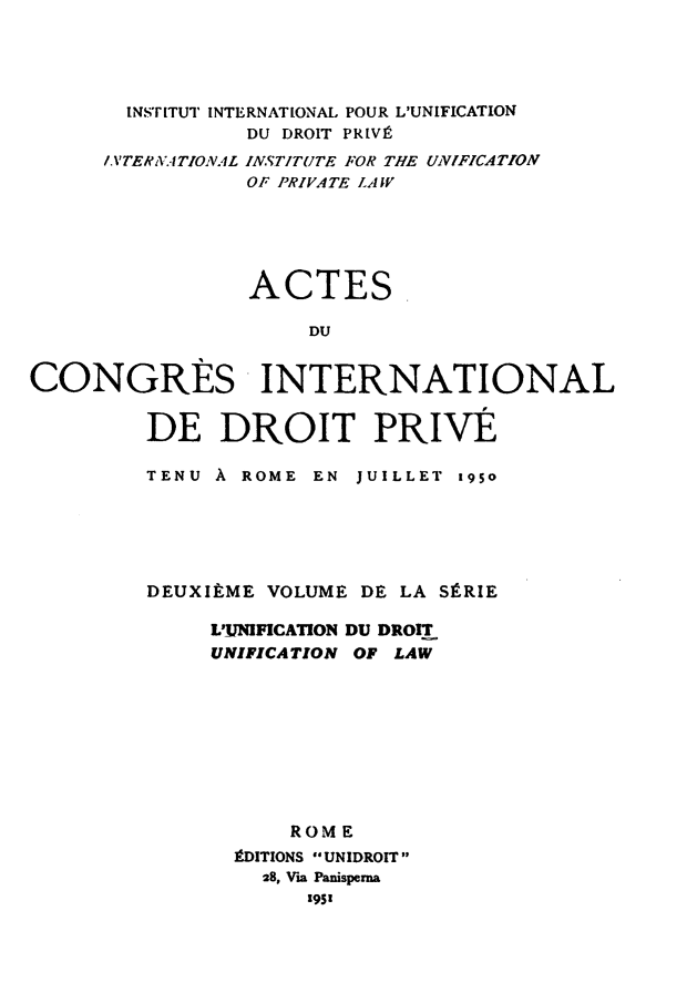 handle is hein.journals/unifddrt2 and id is 1 raw text is: INST ITUT INTERNATIONAL POUR L'UNIFICATION
